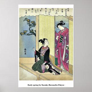Early spring by Suzuki, Harunobu Ukiyoe Poster