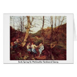 Early Spring By Waldmuller Ferdinand Georg Greeting Cards
