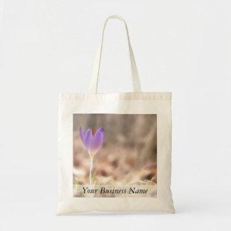 Early Spring Crocus Flower Canvas Bag