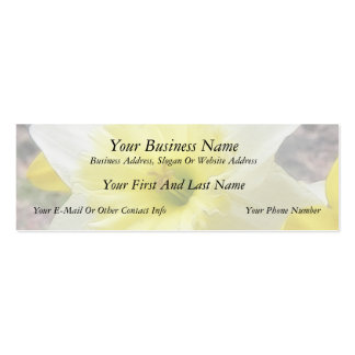 Early Spring Daffodil Double-Sided Mini Business Cards (Pack Of 20)