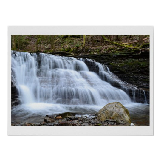 Early Spring Evening At The Waterfalls. Poster