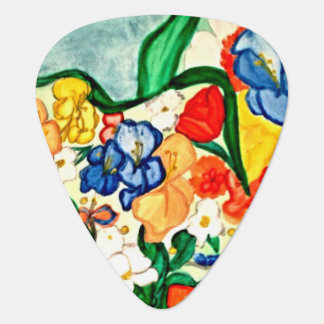 Early Spring Floral Guitar Pick
