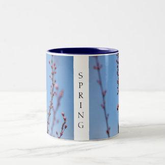 Early Spring Flowers Two-Tone Coffee Mug