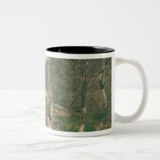 Early Spring in the Vienna Woods Two-Tone Coffee Mug
