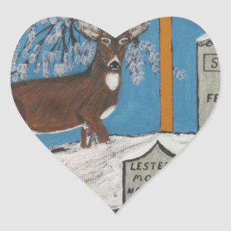 Early Spring Heart Sticker