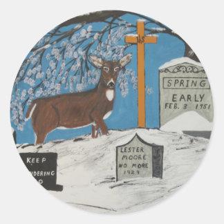 Early Spring Round Sticker