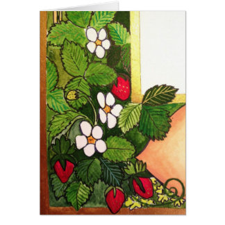 Early Spring Strawberries Stationery Note Card