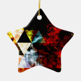 Early Stages of the Triangular Nebula Ceramic Ornament