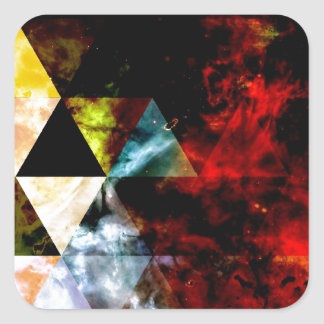 Early Stages of the Triangular Nebula Square Sticker