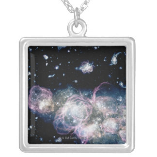 Early Stars Square Pendant Necklace