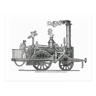 Early Steam Locomotive Postcard