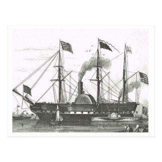 Early steam ship postcard