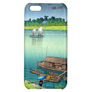 Early Summer Rain. Kawase Hasui river scenery Cover For iPhone 5C