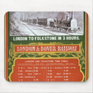 Early timetable for the London to Dover Railway Mouse Pad