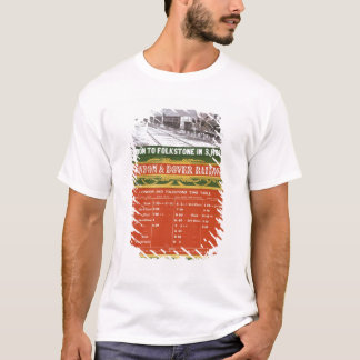 Early timetable for the London to Dover Railway T-Shirt