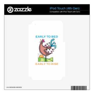Early To Bed Skins For iPod Touch 4G