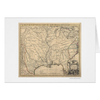 Early United States Map by Senex 1721 Card