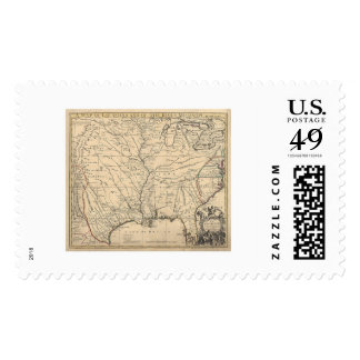 Early United States Map by Senex 1721 Postage