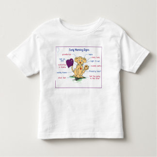 Early Warning Sign Toddler T-shirt
