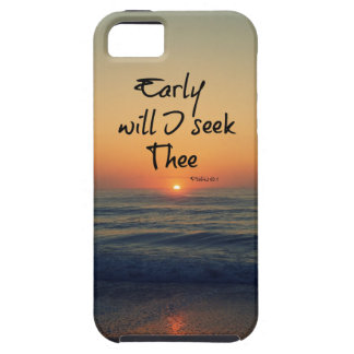 Early will I seek Thee Bible Verse Ocean Sunrise iPhone SE/5/5s Case
