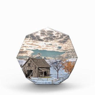 Early Winter Barn Scene Acrylic Award