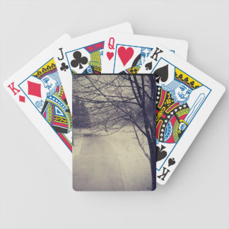 Early Winter Bicycle Playing Cards
