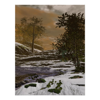 Early Winter Pond Poster