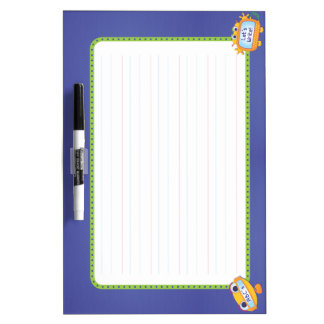 Early Writing Dry Erase Board: BlankLine, Robots Dry Erase Board