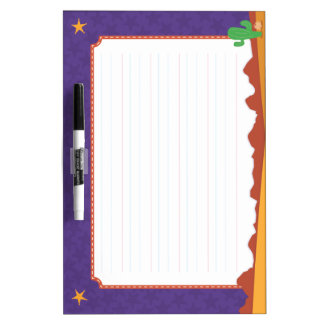 Early Writing Dry Erase Board: BlankLine, WildWest Dry Erase Board