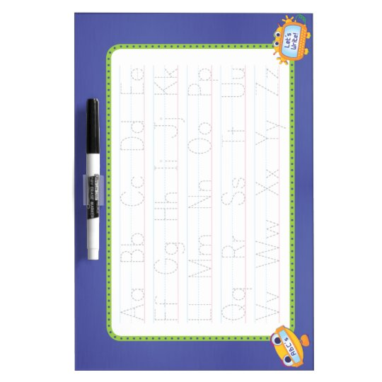 Early Writing Dry Erase Board: Tracing, Robots Dry Erase Board