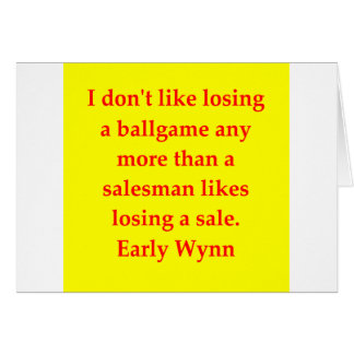 early wynn quote cards