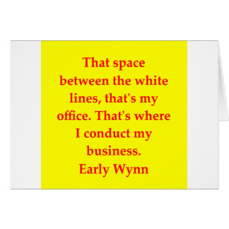 early wynn quote card