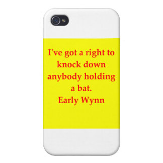early wynn quote case for iPhone 4