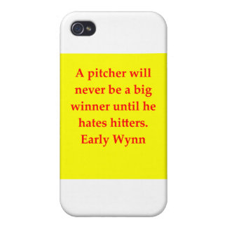 early wynn quote cover for iPhone 4