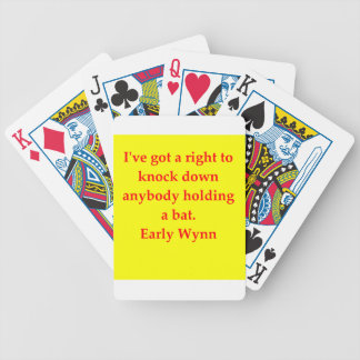 early wynn quote poker cards