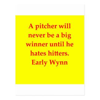 early wynn quote postcard