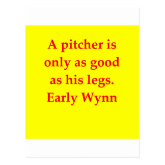 early wynn quote postcards