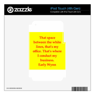 early wynn quote iPod touch 4G decal