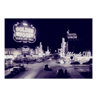 Early Years Of Fremont Street Print