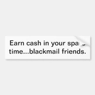 Earn cash bumper sticker