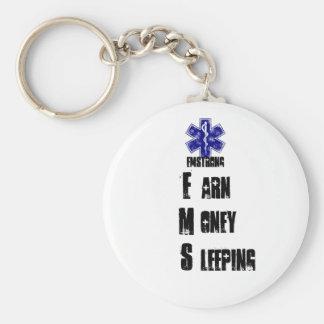 Earn Money Sleeping Basic Round Button Keychain