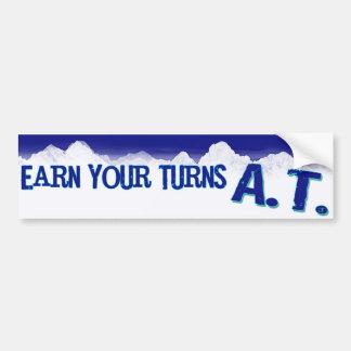 Earn your Turns A.T. Bumper Sticker