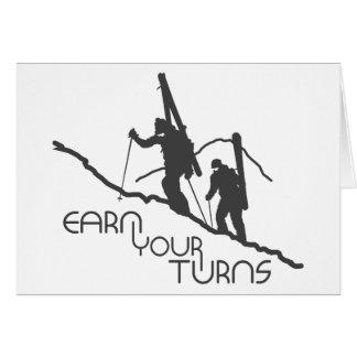 Earn Your Turns Card