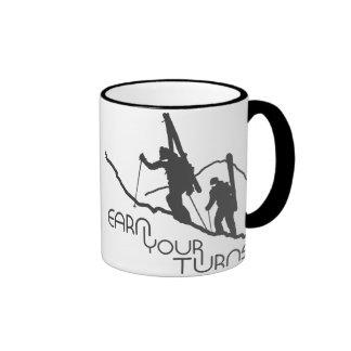 Earn Your Turns Ringer Mug