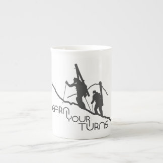 Earn Your Turns Tea Cup