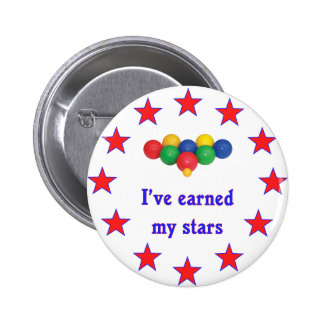 Earned My Stars Bocce Ball 2 Inch Round Button