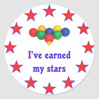 Earned My Stars Bocce Ball Classic Round Sticker