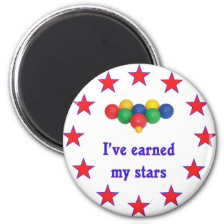 Earned My Stars Bocce Ball Refrigerator Magnets