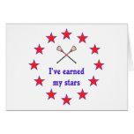 Earned My Stars Lacrosse Greeting Card