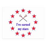 Earned My Stars Lacrosse Postcard